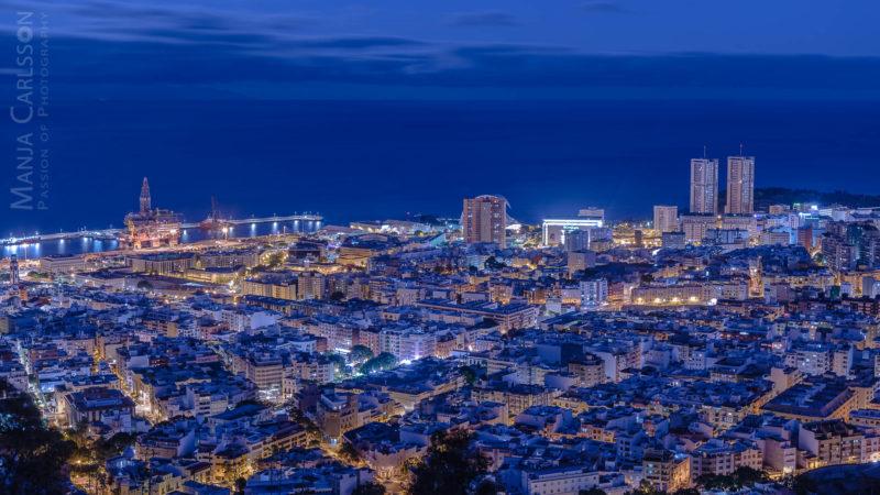 Blick auf Santa Cruz de Tenerife - Hafen bis Torres (Hochhäuser)