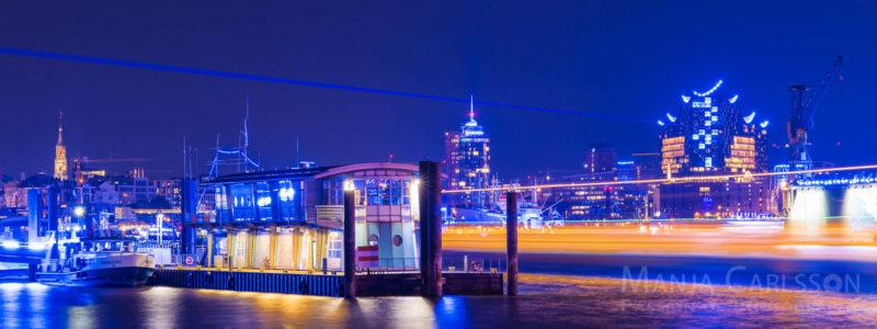Blue Port Hamburg 2017 - DESY Laser - Elbphilharmonie