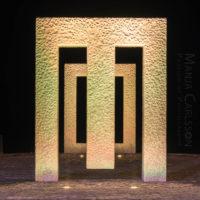 Puerta sin puerta (Kan Yasuda) in Garachico – ocker Licht in Frontansicht