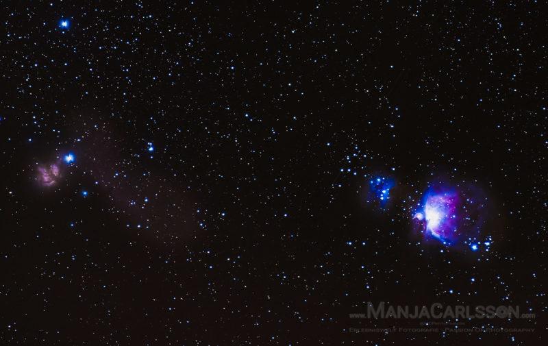 Gürtel des Orion und Nebel des Orion