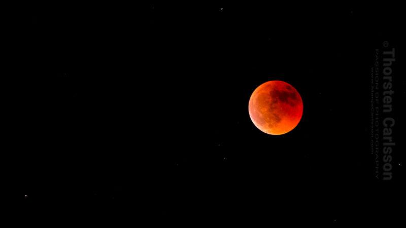 Blutmond zur Mondfinsternis Juli 2018