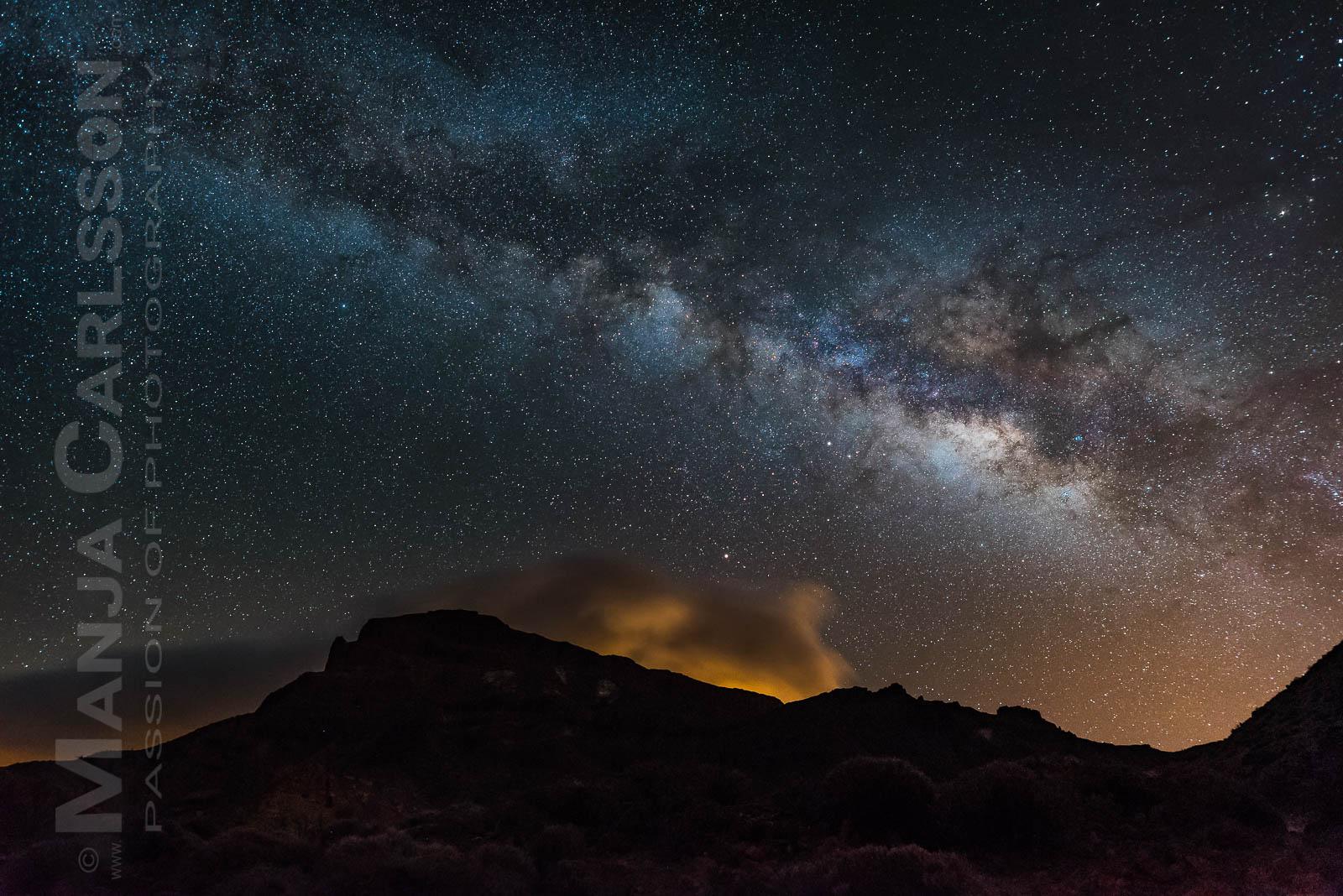 Milchstraße - Guajara mit Wolken