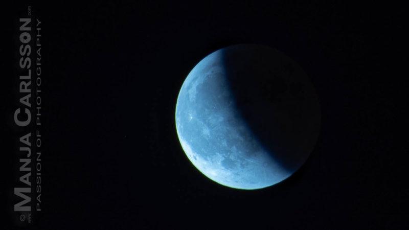 Mondfinsternis Juli 2018 - Verlassen des Kernschattens