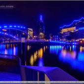 Blue Port Hamburg 2019 - Niederbaumbrücke mit Hafenpolizei und Elphi